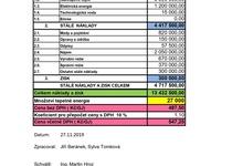 Kalkulace ceny tepla pro rok 2020