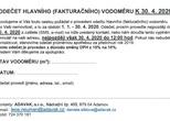 Mimořádné odečty a vyúčtování vodného - stočného ke dni 30. 4. 2020