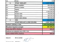 Kalkulace ceny tepla pro rok 2019